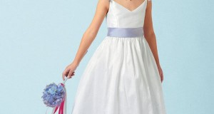 Free-shipping-Spaghetti-Straps-A-Line-Satin-Elegant-Pageant-Dresses-For-Little-Girls-With-Flowers-MDf18